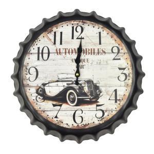 壁掛け時計 レトロ王冠スタイル ビンテージカー インテリア時計|hot-style