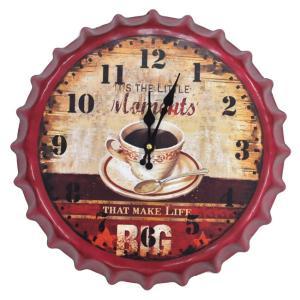壁掛け時計 レトロ王冠スタイル 紅茶デザイン インテリア時計|hot-style