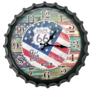壁掛け時計 レトロ王冠スタイル ROUTE 33 インテリア時計|hot-style