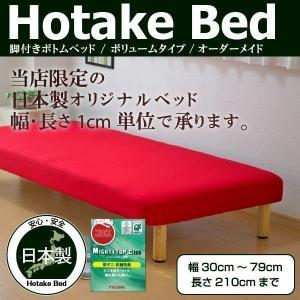 ベッド ベッドフレーム オーダーメイド 脚付きボトムベッド(ボリュームタイプ) 幅30cm〜79cm...
