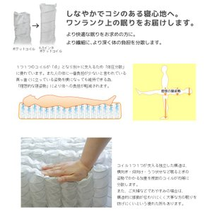 送料無料 ベッド マットレス付き 脚付きマットレスベッド ダブル ピロートップ6.5インチポケットコイル 「国産 日本製」 マットレスベッド|hotakebed|06