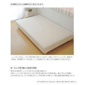 送料無料 ベッド マットレス付き 脚付きマットレスベッド ダブル 薄型ボンネルコイル オックス仕様「国産 日本製」 マットレスベッド hotakebed 04