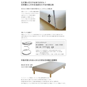 送料無料 ベッド マットレス付き 脚付きマットレスベッド ダブル 薄型ボンネルコイル オックス仕様「国産 日本製」 マットレスベッド hotakebed 06