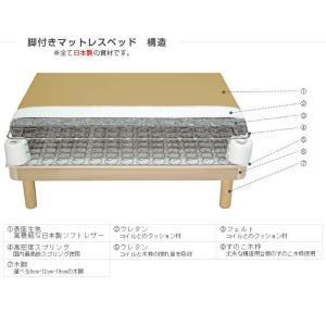 送料無料 ベッド マットレス付き 脚付きマットレスベッド ダブル 硬め 高密度スプリング ソフトレザー仕様「国産 日本製」 マットレスベッド|hotakebed|08