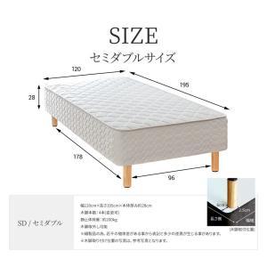 送料無料 ベッド マットレス付き 脚付きマットレスベッド セミダブル 6.5インチポケットコイル 「日本製」 マットレスベッド|hotakebed|02