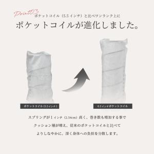 送料無料 ベッド マットレス付き 脚付きマットレスベッド セミダブル 6.5インチポケットコイル 「日本製」 マットレスベッド|hotakebed|11