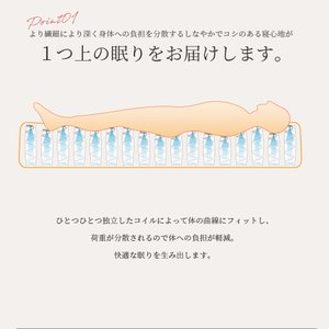送料無料 ベッド マットレス付き 脚付きマットレスベッド セミダブル 6.5インチポケットコイル 「日本製」 マットレスベッド|hotakebed|07
