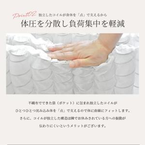 送料無料 ベッド マットレス付き 脚付きマットレスベッド セミダブル 6.5インチポケットコイル 「日本製」 マットレスベッド|hotakebed|08