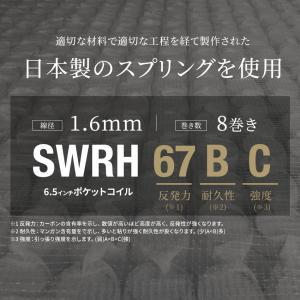 送料無料 ベッド マットレス付き 脚付きマットレスベッド セミダブル 6.5インチポケットコイル 「日本製」 マットレスベッド|hotakebed|09