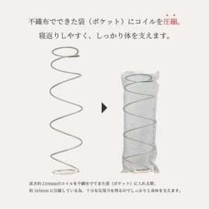 送料無料 ベッド マットレス付き 脚付きマットレスベッド セミダブル 6.5インチポケットコイル 「日本製」 マットレスベッド|hotakebed|10