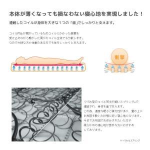 送料無料 ベッド マットレス付き 脚付きマットレスベッド セミダブル 薄型ボンネルコイル オックス仕様「国産 日本製」 マットレスベッド|hotakebed|05