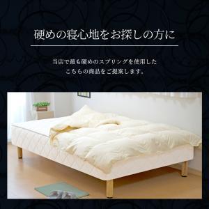 送料無料 ベッド マットレス付き 脚付きマットレスベッド シングル 硬め 高密度スプリング キルティング仕様「国産 日本製」 マットレスベッド hotakebed 09