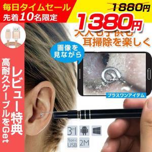 耳かき 電子耳鏡 耳道内 携帯 パソコン接続 ハイビジョンカメラ 内視鏡 ledライト付き 耳掃除 多用途 防水ボアスコープ検査カメラ 明るさを調節可|hotbeststore