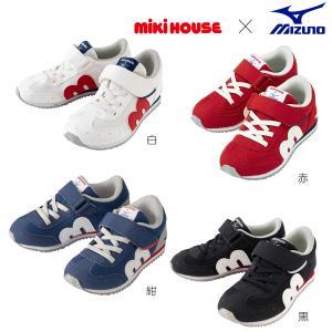 【ミキハウス×ミズノ】コラボキッズシューズ 靴 くつ ギフト 赤 グレー ピンク ブルー 16 17...