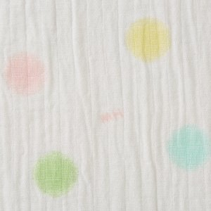 ミキハウス ダブルガーゼ素材のマルチケット 出産祝い 白 黄 グリーン みどり マルチカラー --- MIKIHOUSE hotbiscuits 03