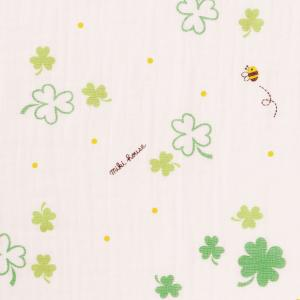 ミキハウス ダブルガーゼ素材のマルチケット 出産祝い 白 黄 グリーン みどり マルチカラー --- MIKIHOUSE hotbiscuits 05
