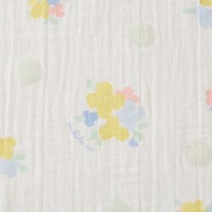 ミキハウス ダブルガーゼ素材のマルチケット 出産祝い 白 黄 グリーン みどり マルチカラー --- MIKIHOUSE hotbiscuits 07