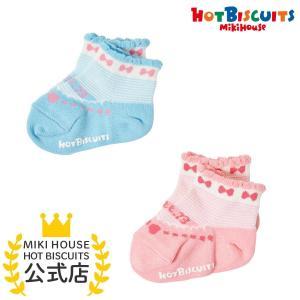 ホットビスケッツ ミキハウス 靴下 バレーシューズ風 ローカットソックス ピンク ブルー 11-13 13-15 15-17 17-19 HOT BISCUITS|hotbiscuits