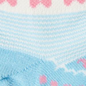 ホットビスケッツ ミキハウス 靴下 バレーシューズ風 ローカットソックス ピンク ブルー 11-13 13-15 15-17 17-19 HOT BISCUITS|hotbiscuits|11