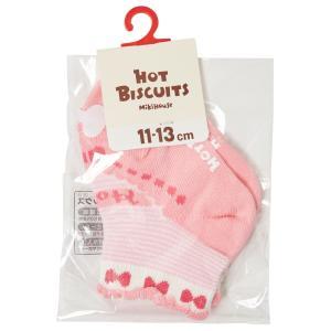ホットビスケッツ ミキハウス 靴下 バレーシューズ風 ローカットソックス ピンク ブルー 11-13 13-15 15-17 17-19 HOT BISCUITS|hotbiscuits|04