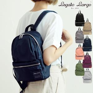 リュック Legato Largo レガートラルゴ 撥水加工ナイロン調 ポリエステル 10ポケット ...