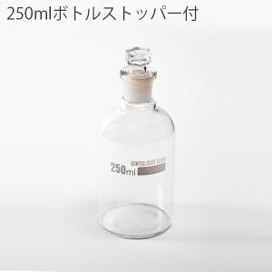 250mlボトルストッパー付 ガラス ボトル ビン 瓶 容器 器 アンティーク インテリア デザイン おしゃれ|hotcrafts