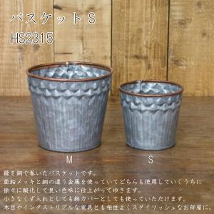 バスケット S アイアン バスケット 収納 入れ物 ごみ箱 鉢 カバー アクシス 鉄 インテリア デザイン おしゃれ|hotcrafts
