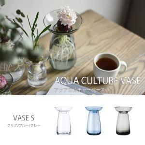 AQUA CULTURE VASE S 花瓶 花器 フラワーベース ガラス シンプル 植物 花 球根 キントー KINTO hotcrafts