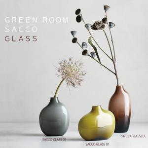 一輪挿し 【 SACCO GLASS 】 花瓶 花器 フラワーベース ガラス シンプル 植物 花 キントー KINTO hotcrafts