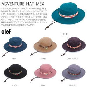 rb3321 ADVENTURE HAT MEX 帽子 ハット キャップ ハンチング メンズ レディース Clef クレ hotcrafts