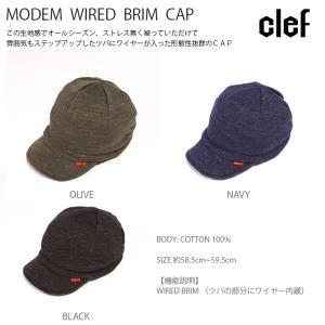 rb3516 MODEM WIRED BRIM CAP 帽子 ハット キャップ ハンチング メンズ レディース Clef クレ hotcrafts