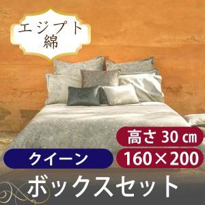 ボックスシーツ1枚 額なし枕カバー2枚  スカイレース クイーン 160x200cm|hotel-like-interior