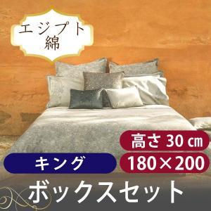 ボックスシーツ1枚 額なし枕カバー2枚  スカイレース キング|hotel-like-interior