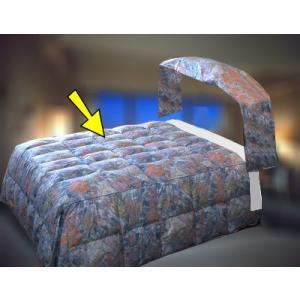 高級ホテル旅館仕様羽毛ベッドカバー ボックス型 K-1サイズ(ベッド本体部分)お布団 兼 ベッドカバー hotelbed