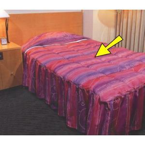 一流ホテル高級旅館の羽毛ベッドカバー フリルスタイル PSシングルサイズ(ベッド本体部分)お布団 兼 ベッドカバー hotelbed