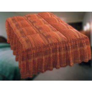 ホテル仕様★本物のホテル羽毛ベッドカバー 直入フリルタイプ Q2クイーンサイズ hotelbed