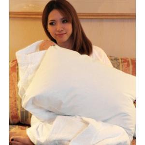 ホテルのフェザーピロー(枕)少し大きいサイズのマクラ 一流ホテルや高級旅館で採用◆安心の日本製 hotelbed 03