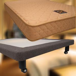 本物のホテルのベッド ポケット標準マットレス+スチールボトム Q2クイーンサイズ 一流ホテル採用のベッド スタイリッシュデザイン 下に荷物が入りお掃除も簡単!|hotelbed