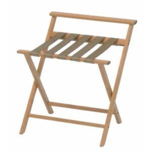 ウッドルック折り畳み式バゲージラック (ナチュラル・背有り)|hotelbed