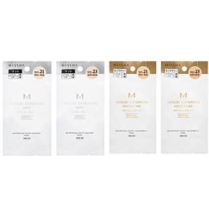 ミシャ M クッション ファンデーション レフィル(パフ1個付き) モイスチャーorマット No.21orNo.23 自然な肌色 明るい肌色【 正規品 】化粧品|hotmart