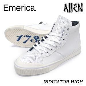 Emerica エメリカ スニーカー INDICATOR HIGH White/Print ザック・アレン 正規品|hotobama