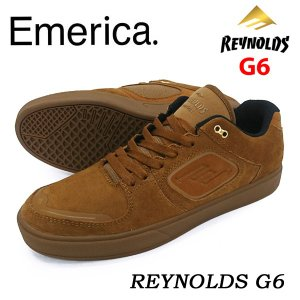 Emerica エメリカ スニーカー REYNOLDS G6 Brown/Gum 正規品|hotobama