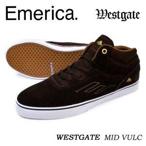 Emerica. エメリカ スニーカー THE WESTGATE MID VULC Dark Brown 正規品|hotobama