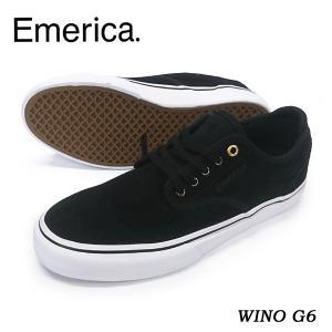 Emerica エメリカ スニーカー WINO G6 Black/White 正規品|hotobama