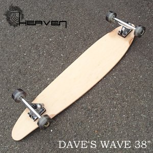 HEAVEN ロングスケートボード 完成品 Dave's Wave 38