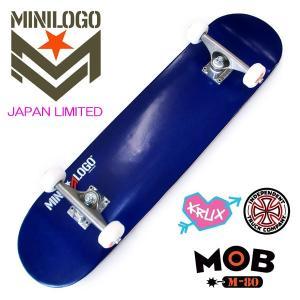 MINILOGO 本格コンプリートスケートボード 完成品 JAPAN LIMITED 7.625 Blue 正規品|hotobama