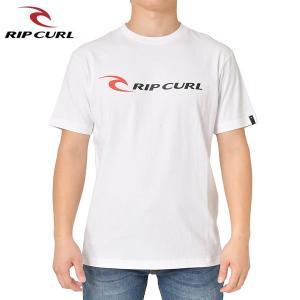 RIP CURL リップカール メンズ 半袖Tシャツ T01-200 WHT 正規品 RIPCURL CORP SS TEE|hotobama