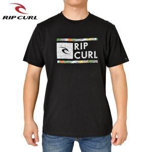 RIP CURL リップカール メンズ 半袖Tシャツ T01-202 BLK 正規品 UNDERDRIVE SS TEE|hotobama