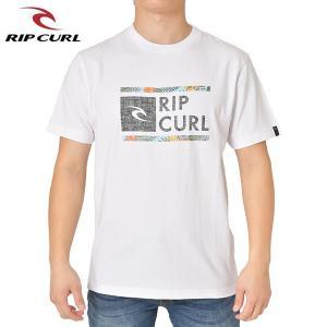 RIP CURL リップカール メンズ 半袖Tシャツ T01-202 WHT 正規品 UNDERDRIVE SS TEE|hotobama