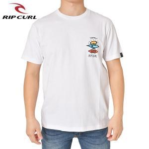 RIP CURL リップカール メンズ 半袖Tシャツ T01-205 WHT 正規品 THE SEARCH SS TEE|hotobama